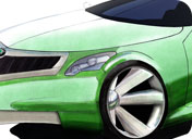 skoda sketching, skoda concept, automotive design, coventry university